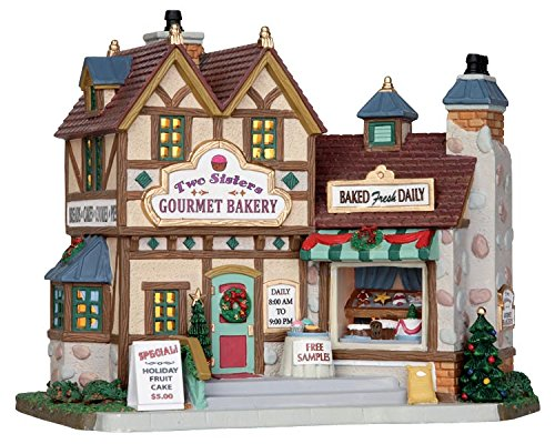 Lemax Chrsitmas Two Sisters Gourmet Bakery B O Led