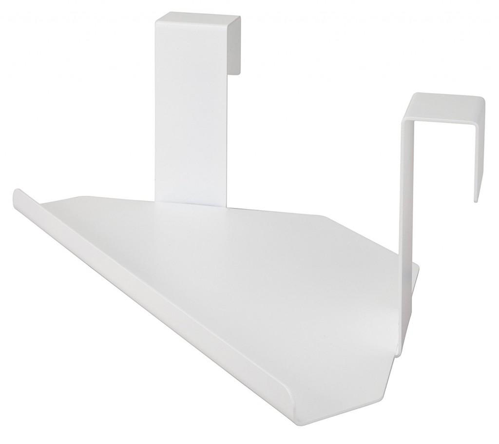 MIDE Products 23CSW 1 Aluminum Corner Shelf, White