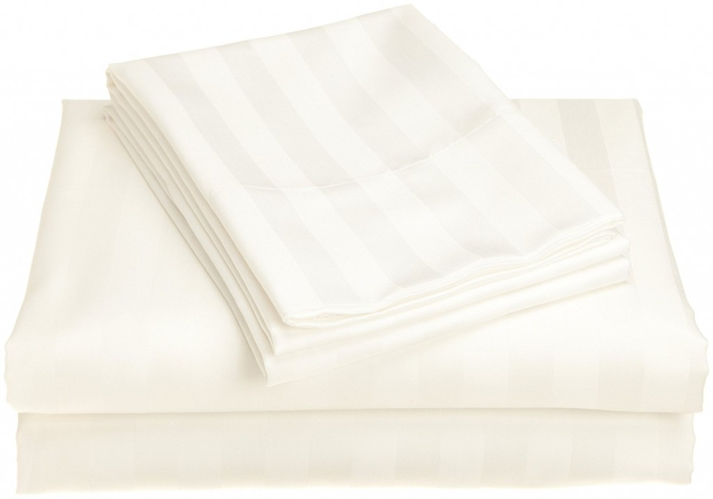 Peacock Alley Luxury Linens Duet II 400 Thread Count 100 Percent Egyptian Cotton King Flat Sheet