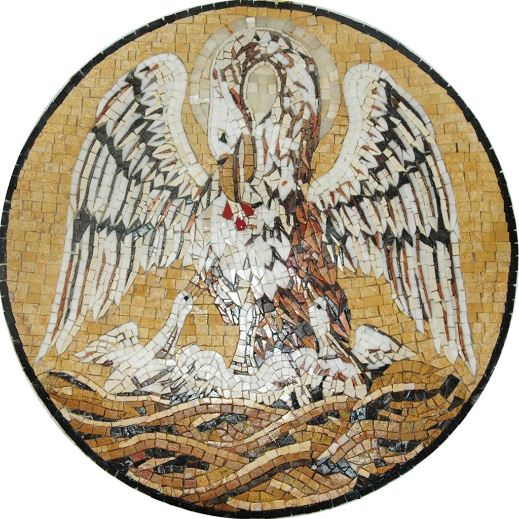 Pelikan Religious Medallion Symbol
