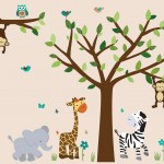 Safari Evergreen Jungle Tree Wall Decals
