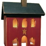 Saltbox Lighted House