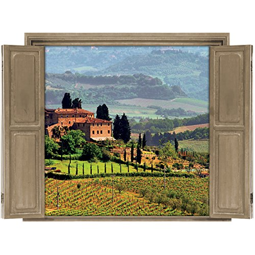 Walls 360 Peel & Stick Wall Decals Window Views Tuscany